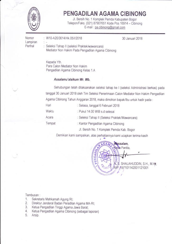 Seleksi Tahap Ii Calon Mediator Non Hakim Pengadilan Agama